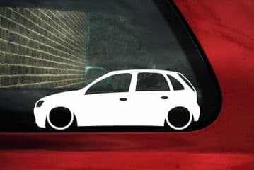 2X Lowered car stickers - for Vauxhall Corsa C (5-door) hatchback | L73