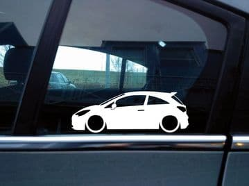 2X Lowered car stickers - for Vauxhall / Opel Corsa E VXR , OPC | L253