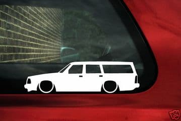 2X Lowered car stickers for Volvo 240 244,GLT Turbo Station Wagon classic L323