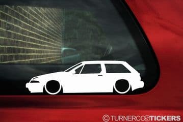 2X Lowered car stickers for Volvo 480 Turbo 1986-1995 classic L603