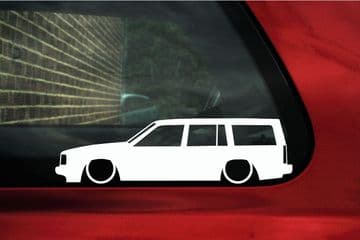 2X Lowered car stickers - for Volvo 740 turbo Station Wagon | classic L324