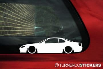 2X Lowered JDM drift stickers for Nissan Silvia S15 Spec-R no wing | L02