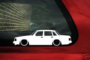 2X Lowered low car stickers - for Volvo 240, 244,GLT Turbo SE | classic L322