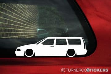 2X Lowered low car stickers - for Volvo V70 R T5, Station Wagon 1st Gen L134