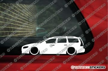 2X Lowered low car stickers - for Volvo V70 R T5, Station Wagon 3rd Gen L136