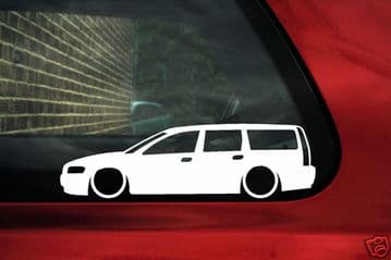 2X Lowered low car stickers - for Volvo V70 T5, Turbo 2nd Gen L135