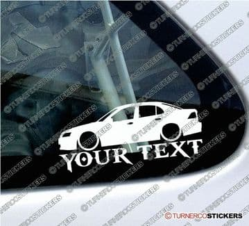 2x Lowered Saab 95 classic delivery van CUSTOM TEXT car silhouette stickers
