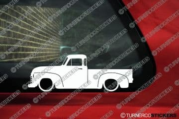 2X Lowered truck stickers for Chevrolet Advance design 50s pickup classic L1257