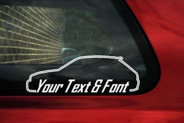 2x Mazda 323 (BG) familia GTR / GTX CUSTOM TEXT stickers