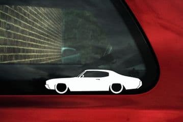 2X Muscle car outline stickers for Buick Skylark hardtop 1970-1972 Classic L1627