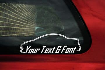 2x Peugeot 207 CC convertible hardtop CUSTOM TEXT stickers
