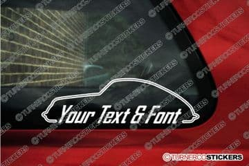2x Porsche 356 Coupe CUSTOM TEXT stickers