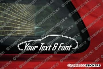 2x Porsche 928 CUSTOM TEXT stickers