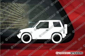 2x Suzuki Sidekick / Vitara 2-Door softtop (1989-1998) 4x4 outline stickers