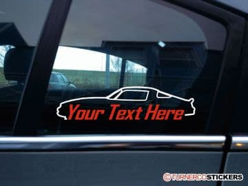 2x (two) Chevrolet camaro (1974-1981) Z28 CUSTOM TEXT stickers / decals