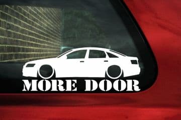 Audi A6 /S6 (C6) 'More Door' sticker Decal for A6 2.8, 3.2 V6 FSI / TDi saloon