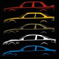 Car Silhouette Stickers