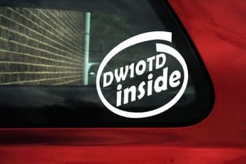 DW10TD inside sticker - for Peugeot 306,307,206 HDi Diesel