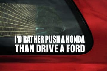 I'd rather push a Honda sticker. For Honda EK, EG Civic vtec / type R,accord, Prelude DOHC ,JDM,