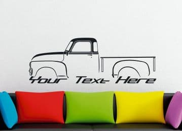 Large Custom car silhouette wall sticker -for 1954 Chevrolet 3100 advance design classic pickup