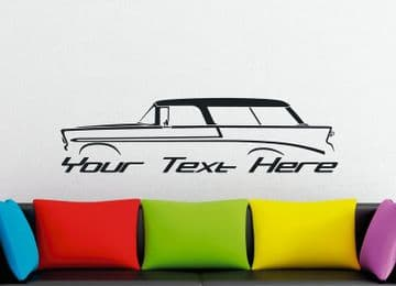 Large Custom car silhouette wall sticker - for 1956 Chevrolet Nomad classic  vintage station wagon