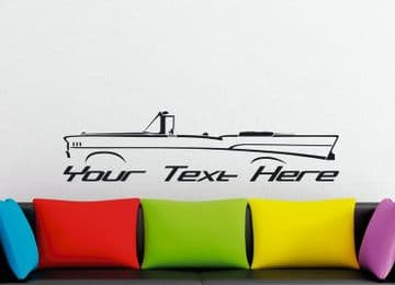 Large Custom car silhouette wall sticker - for 1957 Chevrolet Bel-Air convertible classic vintage