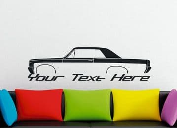 Large Custom car silhouette wall sticker - for 1964 Pontiac tempest GTO | coupe V2
