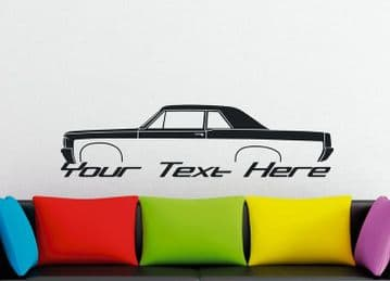 Large Custom car silhouette wall sticker - for 1964 Pontiac tempest GTO | hardtop V1