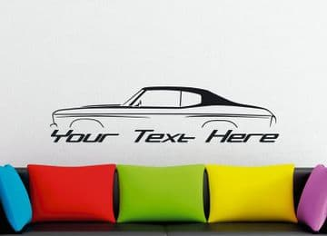 Large Custom car silhouette wall sticker - for 1970 Chevrolet Chevelle SS classic muscle car vintage
