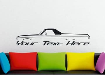 Large Custom car silhouette wall sticker - for 1970 Chevrolet EL Camino 3rd gen classic | vintage
