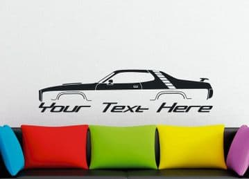 Large Custom car silhouette wall sticker - for  1971 Plymouth Road Runner (version 1) | muscle car
