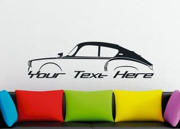Large Custom car silhouette wall sticker for Alpine A106 , 1955-1961   classic french sports car