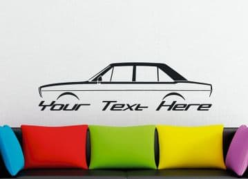 Large Custom car silhouette wall sticker - for Audi 80, B1 classic 4-door saloon | sedan