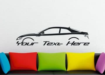 Large Custom car silhouette wall sticker - for Audi A5 | S5 Coupe ( B9; 2016-)