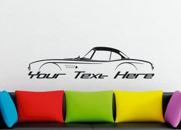 Large Custom car silhouette wall sticker - for BMW 507 roadster | classic , vintage (hardtop)