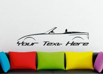 Large Custom car silhouette wall sticker - for BMW BMW Z1 Roadster convertible
