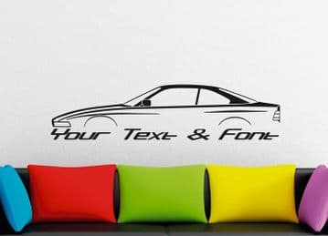 Large Custom car silhouette wall sticker - for BMW e31 8-series classic coupe 1989-1999 | 840i 850i