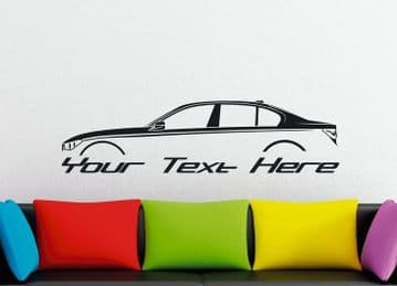 Large Custom car silhouette wall sticker - for BMW G11 7-series 730d,740d, 750d , 730i, 740i , 750i,