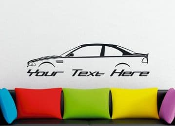 Large Custom car silhouette wall sticker - for BMW M3 ,E46 coupe