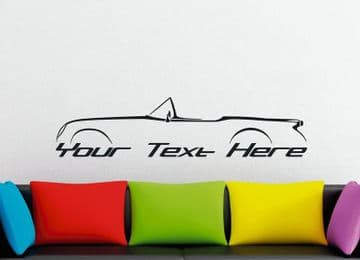 Large Custom car silhouette wall sticker - for Chevrolet Corvette early C1 classic 1953 vintage