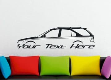 Large Custom car silhouette wall sticker - for Honda Civic Aerodeck wagon VTi | ek  | vtec | b18