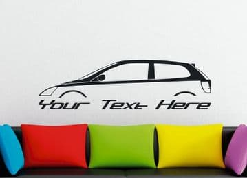 Large Custom car silhouette wall sticker - for Honda Civic Si hatchback EP 2001-2005 (7th gen)