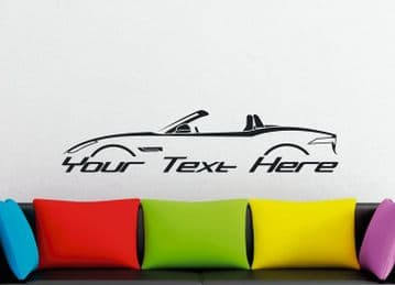 Large Custom car silhouette wall sticker for Jaguar F-Type convertible