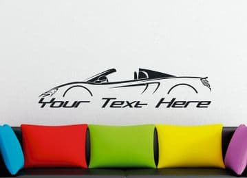 Large Custom car silhouette wall sticker for McLaren 650S Spider | sports car / supercar
