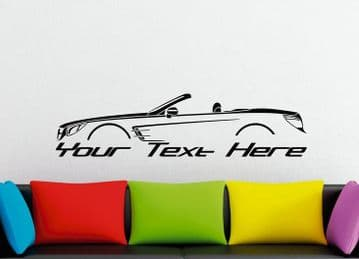 Large Custom car silhouette wall sticker -for Mercedes-Benz SL - R231, 2012+ (version 1)