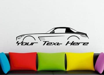 Large Custom car silhouette wall sticker - for Mercedes SLS AMG (C197) supercar