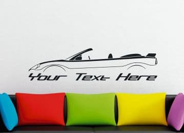 Large Custom car silhouette wall sticker - for Mitsubishi Eclipse 3G spyder convertible GT GTS