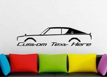 Large Custom car silhouette wall sticker - for Nissan Skyline GTR, C110 KENMERI classic | JDM