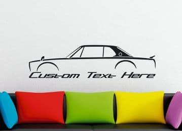 Large Custom car silhouette wall sticker - for Nissan Skyline GTR, KPGC10 Hakosuka classic | JDM