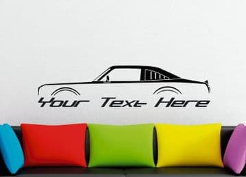 Large Custom car silhouette wall sticker - for  Plymouth Volare Road Runner Coupe (version 3) F-Body